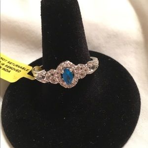 Jewelry - Neon Apatite Sterling Silver Ring, Sz 10